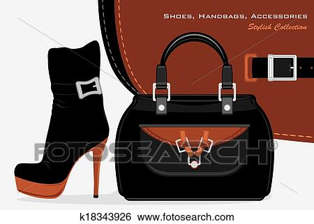 super specials official photos cheap price Shoes, handbags and accessories Clip Art | k18343926 ...