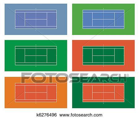 コレクション の テニスコート イラスト K6276496 Fotosearch