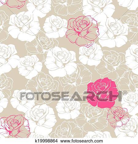 Clipart Azulejo Vector Rosa Plano De Fondo K19998864 Buscar - Azulejos-rosas