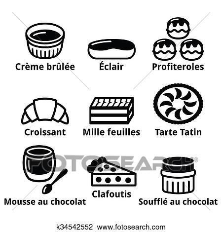 Francais Dessert Patisserie Et Gâteaux Ic Dessin