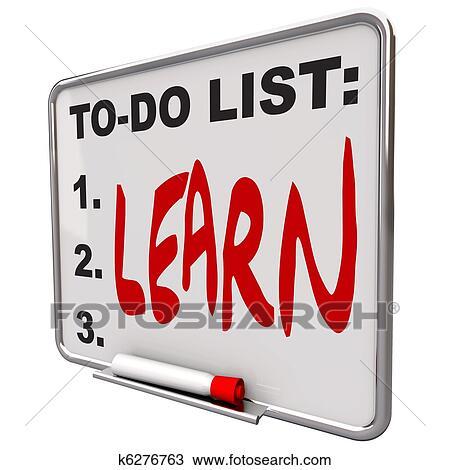 Dibujo - lista de jaleo, -, aprender, -, el seco borra panel ...