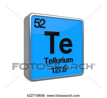 Stock Illustration Of Tellurium Element Periodic Table K22718656