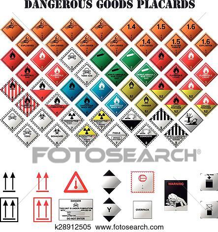 Clipart Of Dangerous Goods Placards K28912505 Search Clip Art