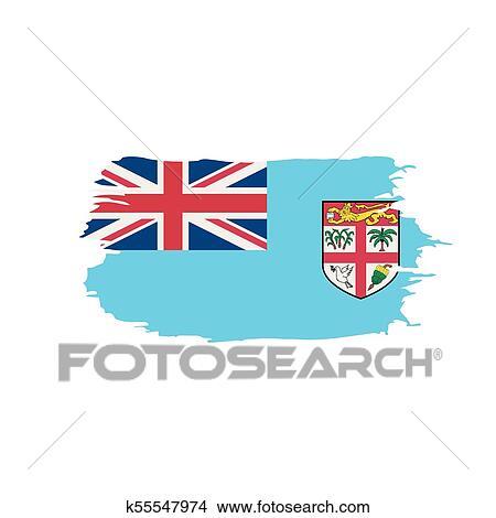 Fiji Flag Vector Illustration Clipart K55547974 Fotosearch