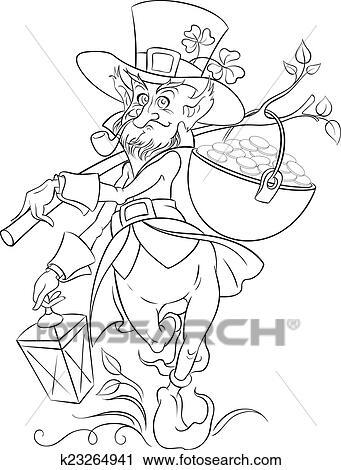 Clipart Of Leprechaun Saint Patrick Day K23264941