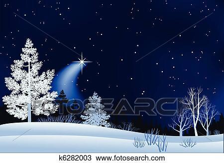 Clipart Winterlandschap Illustratie K6282003 Zoek Clipart