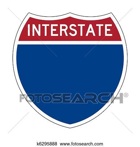 stock illustration of blank interstate highway sign k6295888 rh fotosearch com interstate highway sign vector highway sign vector free