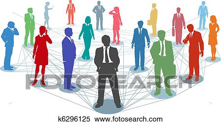 clipart of connect business people network connections k6296125 rh fotosearch com