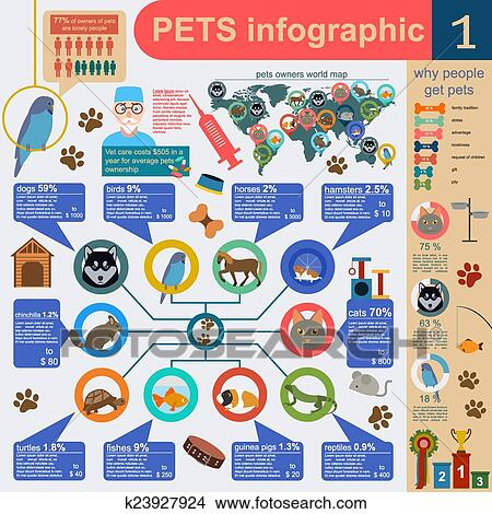 domestic-pets-infographic-elements-clipa