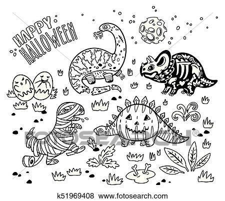 Halloween Dinosaurs Clipart