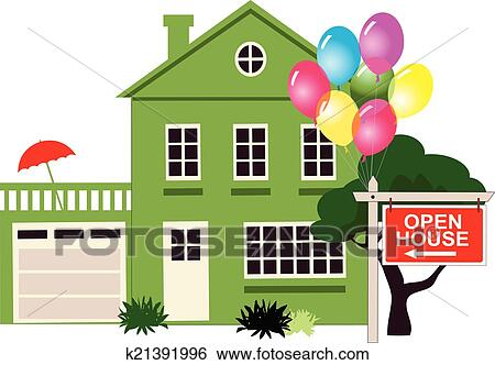 clip art of open house k21391996 search clipart illustration rh fotosearch com open house clipart en espanol open house clip art png