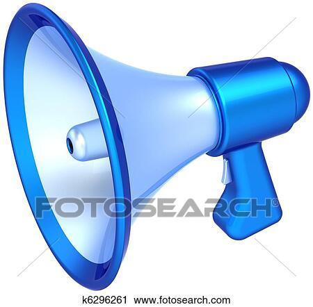Clipart Porte Voix Apprentissage Icône Cyan K - Porte voix