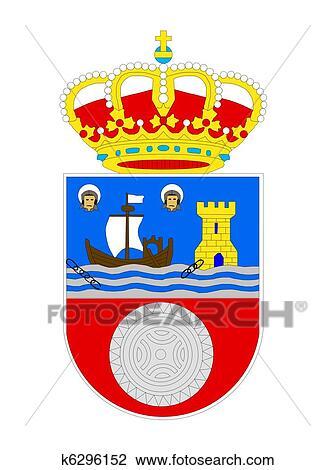 Spanischer, cantabria, wappen Zeichnung