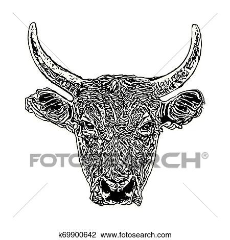 Bull head vector clipart image - Free stock photo - Public Domain photo -  CC0 Images