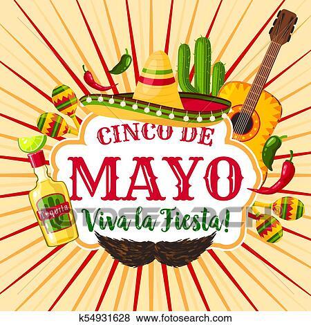 Clip art of cinco de mayo mexican holiday greeting poster k54931628 clip art cinco de mayo mexican holiday greeting poster fotosearch search clipart m4hsunfo
