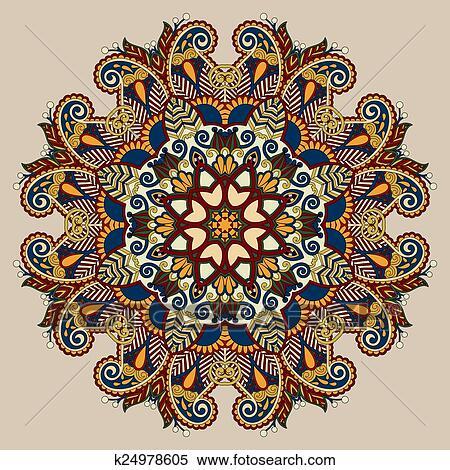 Circle decorative spiritual indian symbol of lotus flower ...