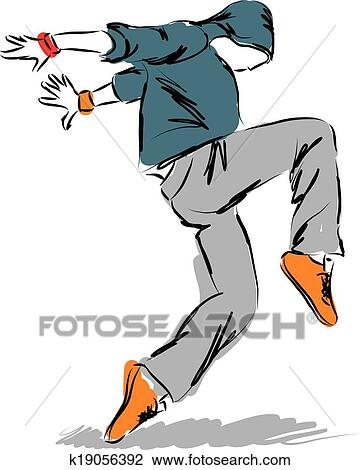 clipart of hip hop dancer3dancing illustration k19056392 search rh fotosearch com hip hop clip art black and white clipart danse hip hop