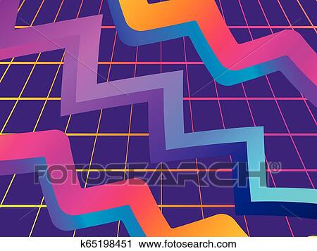 Retro futurism background  Modern trend gradient  Synthwave  Retrowave   Vector illustration Clipart