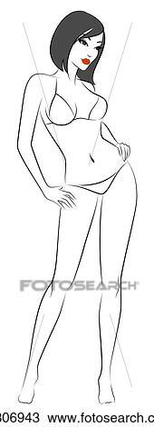 Dessiner Une Silhouette De Femme dessin - silhouette, de, beau, sexy, femme k6306943 - recherchez des