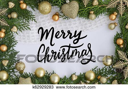 Frohe Weihnachten Rahmen.Weihnachten Rahmen Mit Hand Schriftzug Frohlich Weihnachten Weihnachten Frees Und Colden Dekorationen Poppig Glueckwunschkarten Design