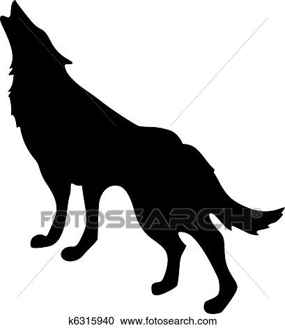 シルエット の 狼 クリップアート 切り張り イラスト 絵画 集 K Fotosearch