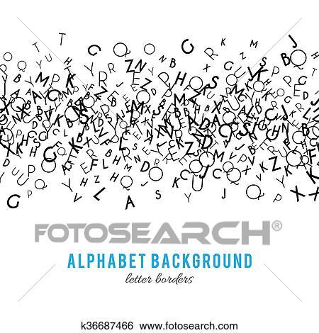 stock illustration of abstract black alphabet ornament frame
