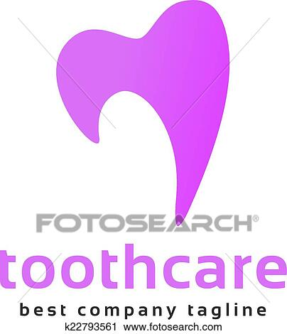 Clipart Of Abstract Vector Tooth Logo Icon Similar Human Heart