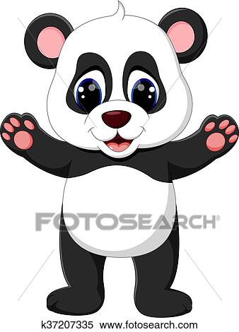 Baby Panda Cartoon Clipart K37207335 Fotosearch