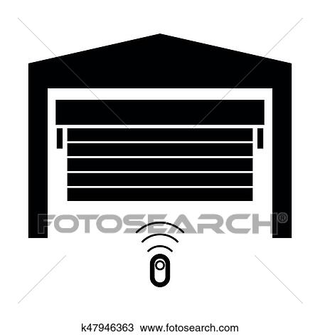clipart of garage door the black color icon k47946363 search rh fotosearch com free garage door clipart garage door opener clipart