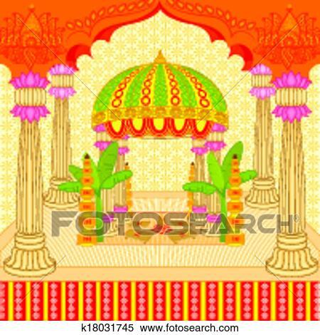 indian wedding mandap clipart k18031745 fotosearch