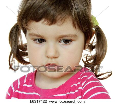 Stock Photo Of Little Girl Saying Sorry K6317422 Search Stock