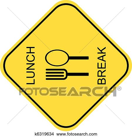 clipart of lunch break vector icon k6319634 search clip art rh fotosearch com out to lunch clipart free