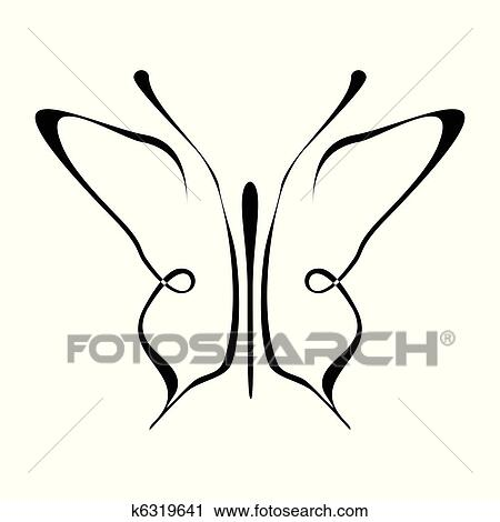 Dessin Papillon Tatouage clipart - papillon, tatouage, -, mariposa k6319641 - recherchez des