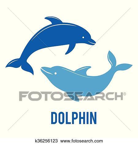 clipart silhuetas de a golfinhos jumping k36256123 busca de