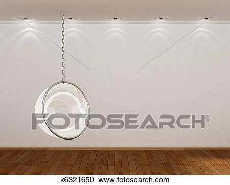 . 3d empty room Clipart