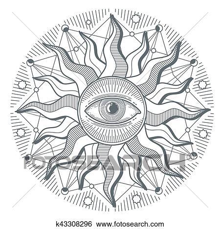 Clip Art Of All Seeing Eye Illuminati New World Order Vector