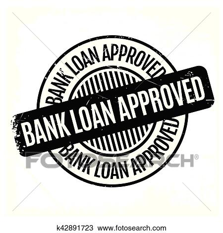 clipart of bank loan approved rubber stamp k42891723 search clip
