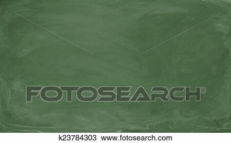 drawing of blank green chalkboard background and texture k23784303