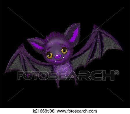 Vettoriale simpatico cartone animato pipistrello dà pollice in