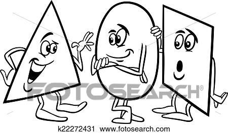 Clipart - einfach, formen, karikatur, färbung, seite k22272431 ...
