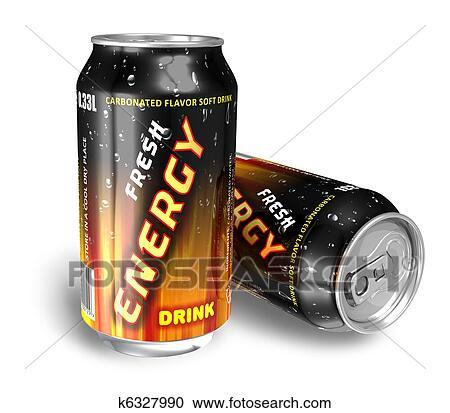Stock Fotografie - energie, getränke, in, metall, dosen k6327990 ...