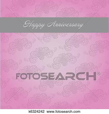 clip art of happy anniversary template k6324242 search clipart