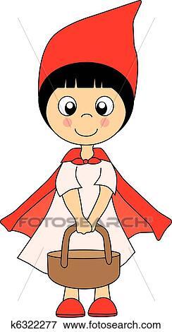 Clipart petit chaperon rouge k6322277 recherchez des cliparts des illustrations des - Dessin chaperon rouge ...