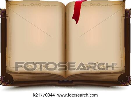 Clipart Of Old Open Book For Halloween K21770044