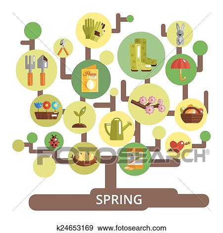 Clip Art Of Spring Season Concept K24653169 Search Clipart