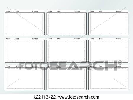 Clipart Of Storyboard Template Gird X 9 K22113722 Search Clip Art