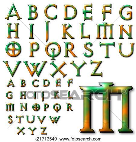 Colección de ilustraciones - abc, alfabeto, letras, diseño k21713549 ...