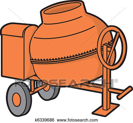 clip art of concrete mixer k6339686 search clipart illustration rh fotosearch com concrete clip art work concrete clip art free