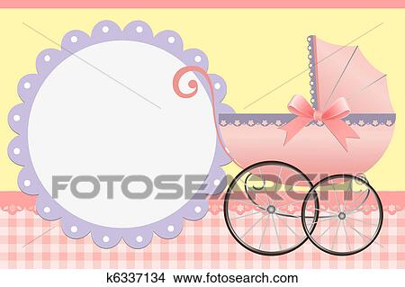 Cute Template For Babys Card Clipart K6337134 Fotosearch