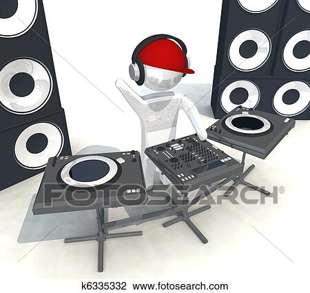 Three Dimensional Isolated DJ Equipment